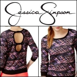 🆕️NWT. JESSICA SIMPSON Cut Out Sweatshirt!